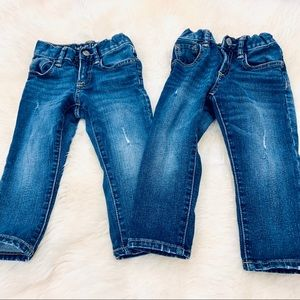 Baby Gap 2T distressed jeans - set of 2